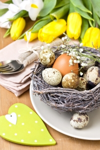 Eggs are symbols for the Christian holiday of Easter