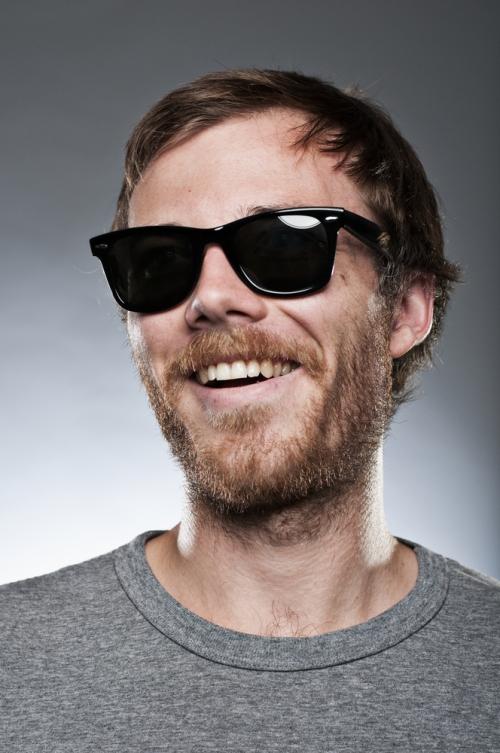 Young man in wayfarer sunglasses