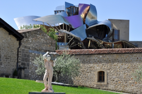 The modern winery of Marques de Riscal