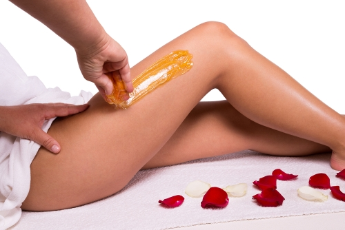 Depilator hair removal on the upper thigh