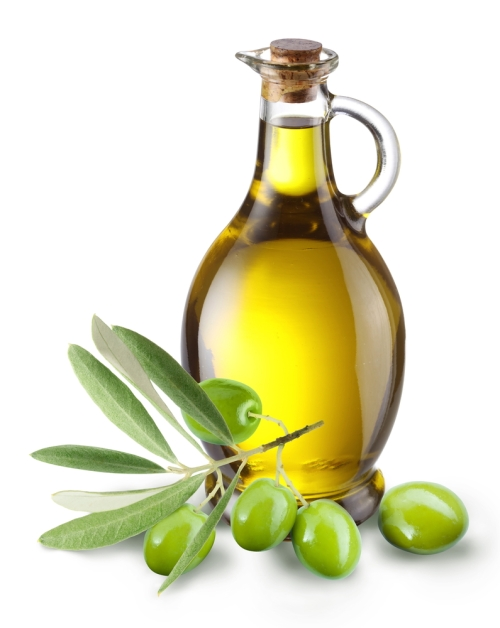 Jug of Olive Oil with Olives