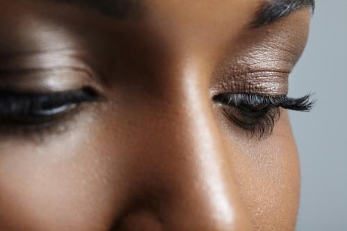 Bronzey eye makeup