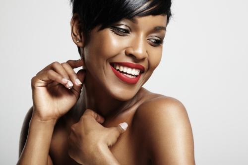 Beautiful woman with dark skin
