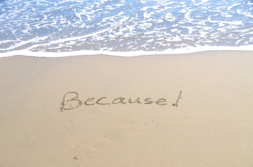 Because written in the sand at the beach