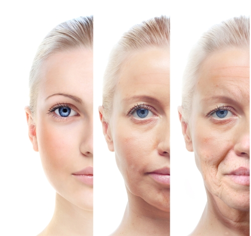 Womans portrait at 20, 40 and 60