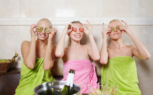 Ladies enjoying a spa party experience