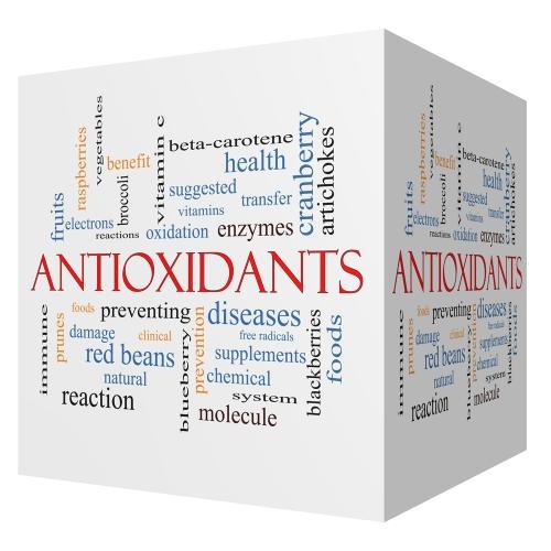 Box with words describing antioxidants