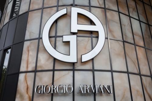 Georgio Armani store logo