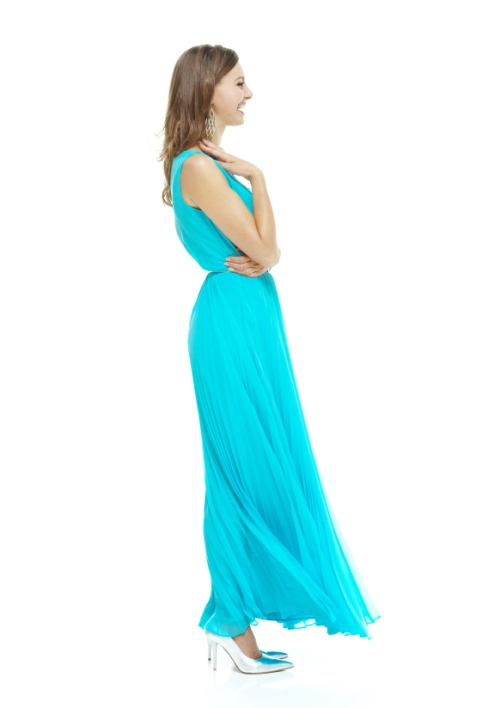 Maxi dress on a woman over 40
