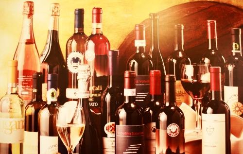 Various bottles of Chianti wine