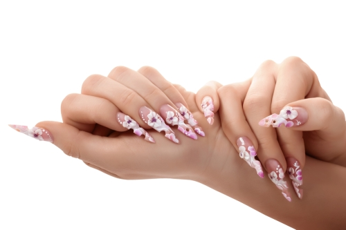 Woman with ridiculous looking nails.