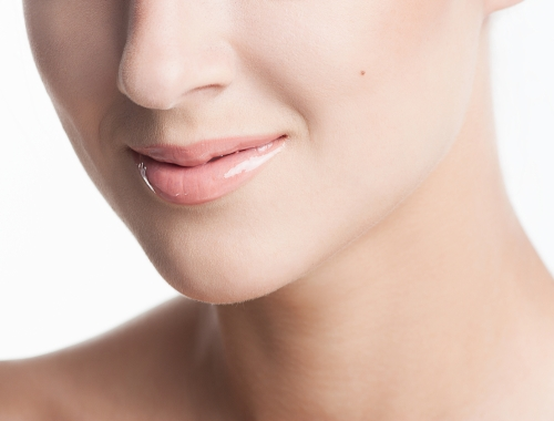 Closeup of a  woman's lips.