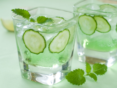 Cucumber Mint Fizz.