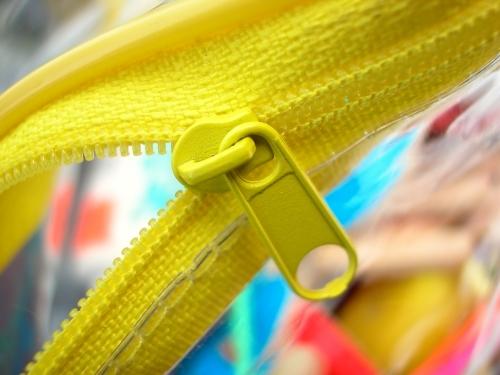 Closeup of a zip bag