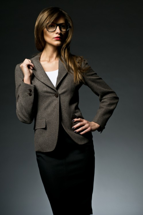 Business woman in a business suit.