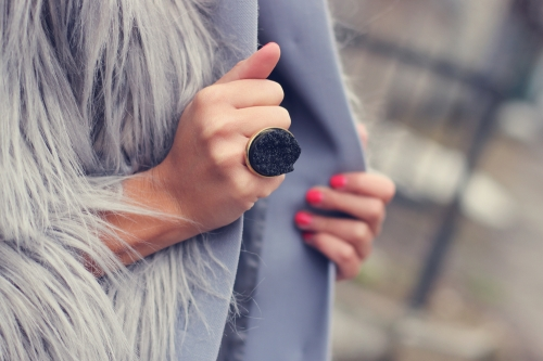 Woman wearing a ring