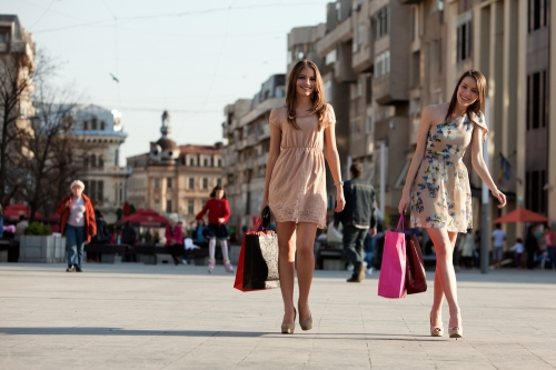 Women on a shopping spree
