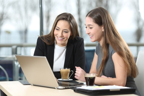 Business womens having video conferencing