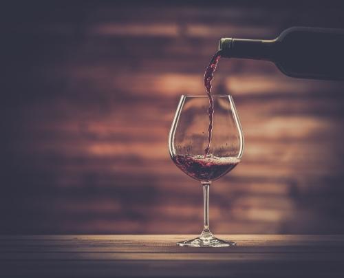 Pouring a glass of Cabernet Sauvignon