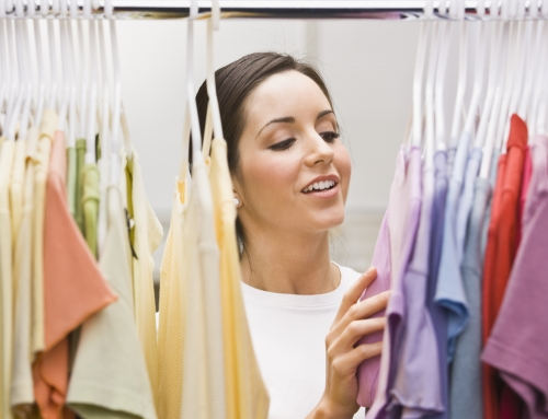 woman looking at wardrobe