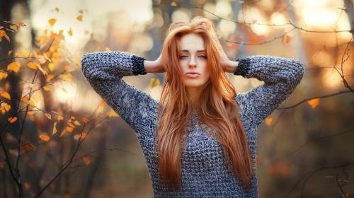 Woman in sweater