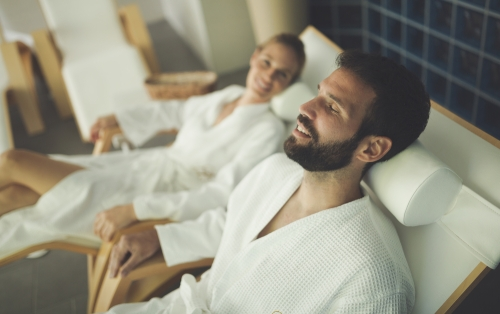 Couple at a spa