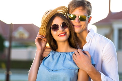 Couple style with sunglasses