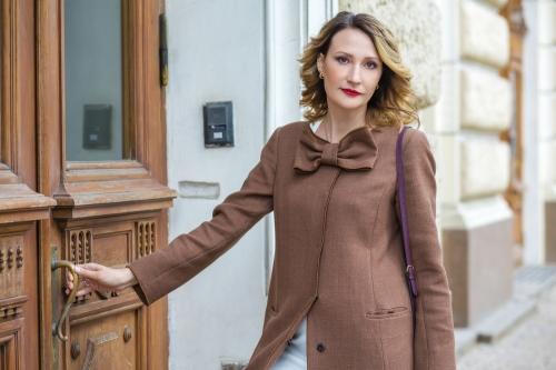 Woman in coat