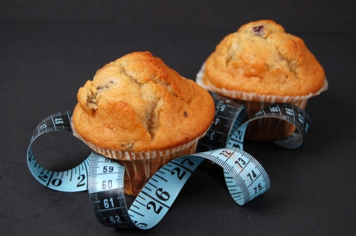 Muffins with tape measure