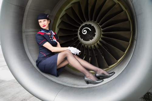 Airhostess in Uniform